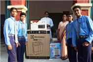 Gifts presented by Rev. Fr. Rolfie D'Souza to Sr. Jyotika