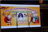 REV. FR. VIJAYANAND MEMORIAL CHRISTMAS CAROL CONTEST 2019