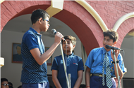 Today's Morning Assembly Conducted by Class VIII-F